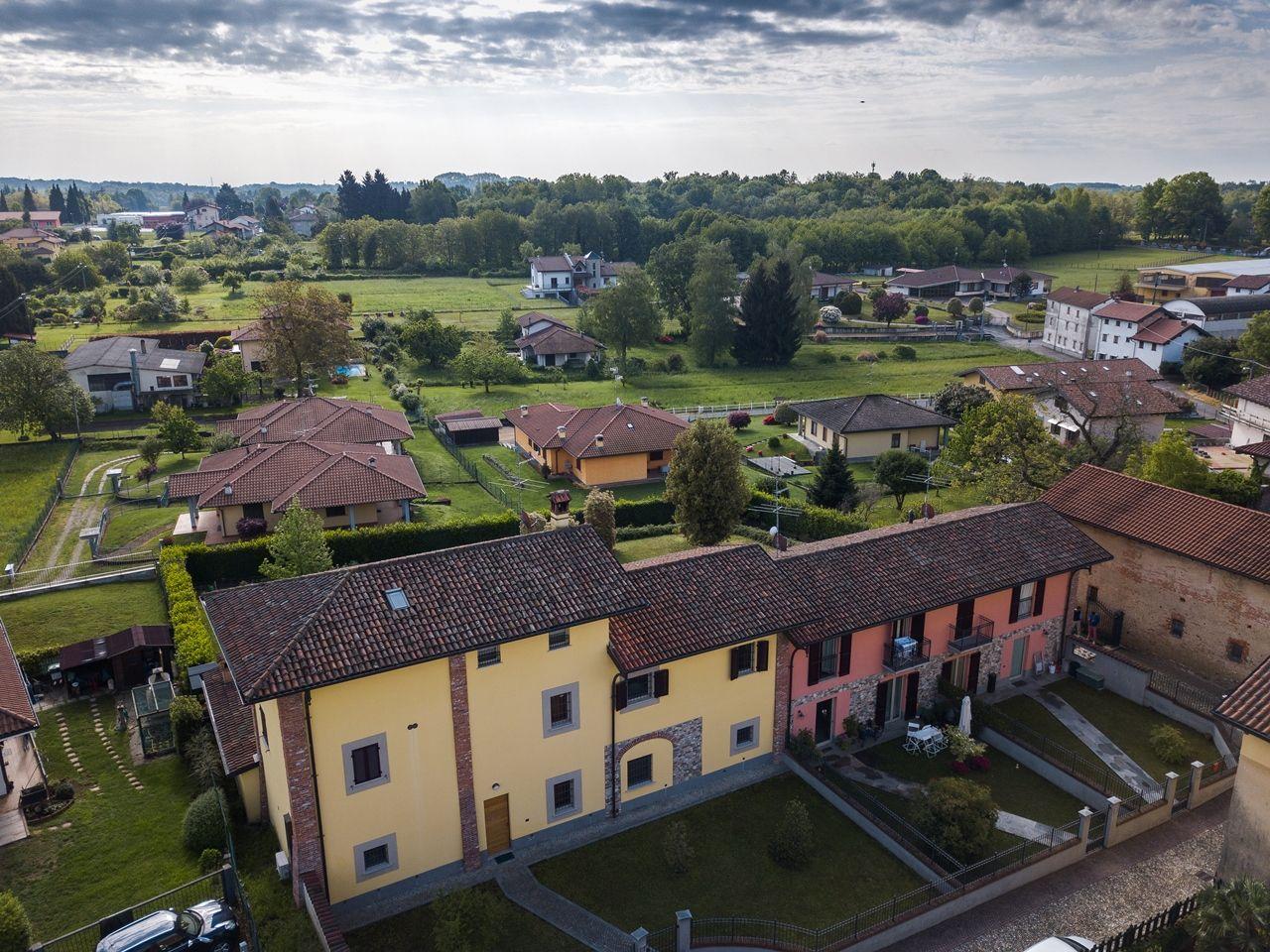 vista aerea - posteriore - villa - giardino