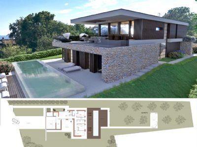 villa nuova costruzione Massino Visconti  vista lago