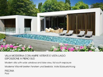 Arizzano villa moderna vista lago nuova con piscina for Planimetrie vista lago