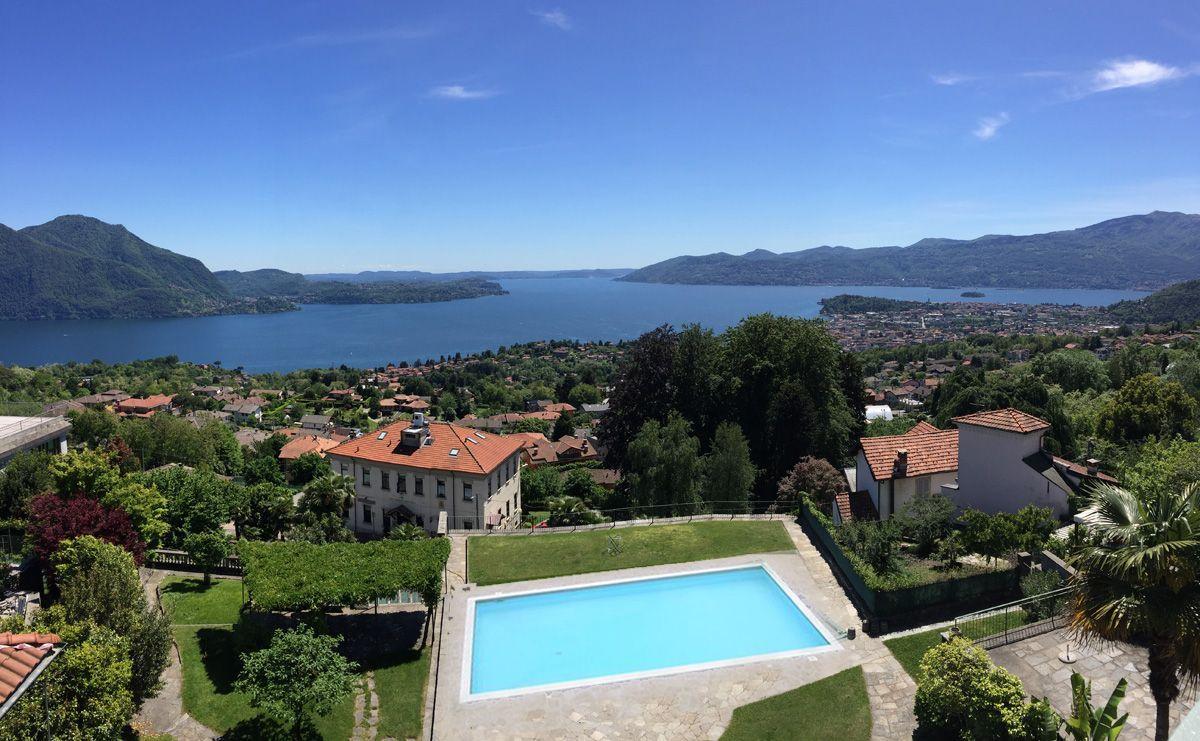 Arizzano villa vista lago 500mq con piscina e parco - B b con piscina ...
