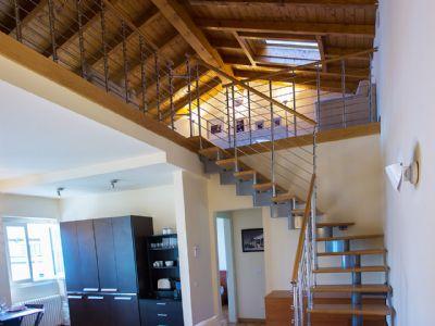 scala per il soppalco appartamento Ghiffa
