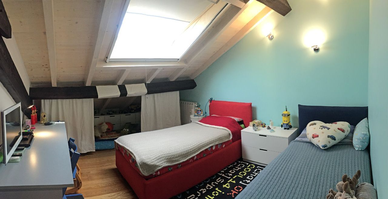 Three-room apartment in Verbania -bed room
