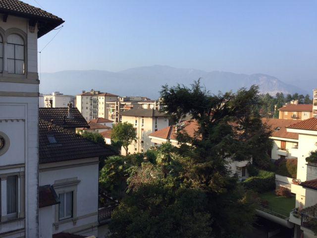 vista dal balcone appartamento Pallanza